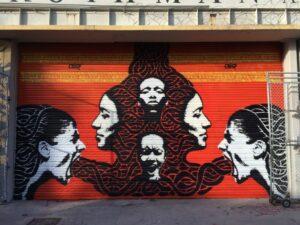 Crisp street art Bogota