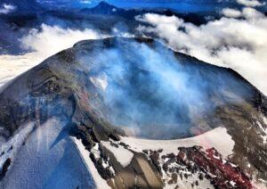 Villarrica Volcano Aerial View, Chile