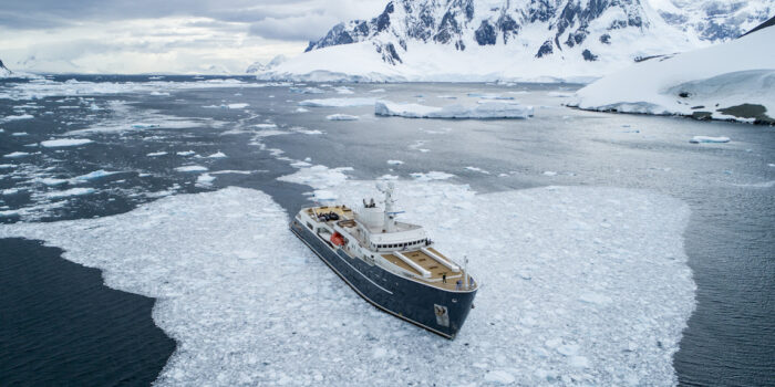 Legend, Antarctica - Sailing through ice