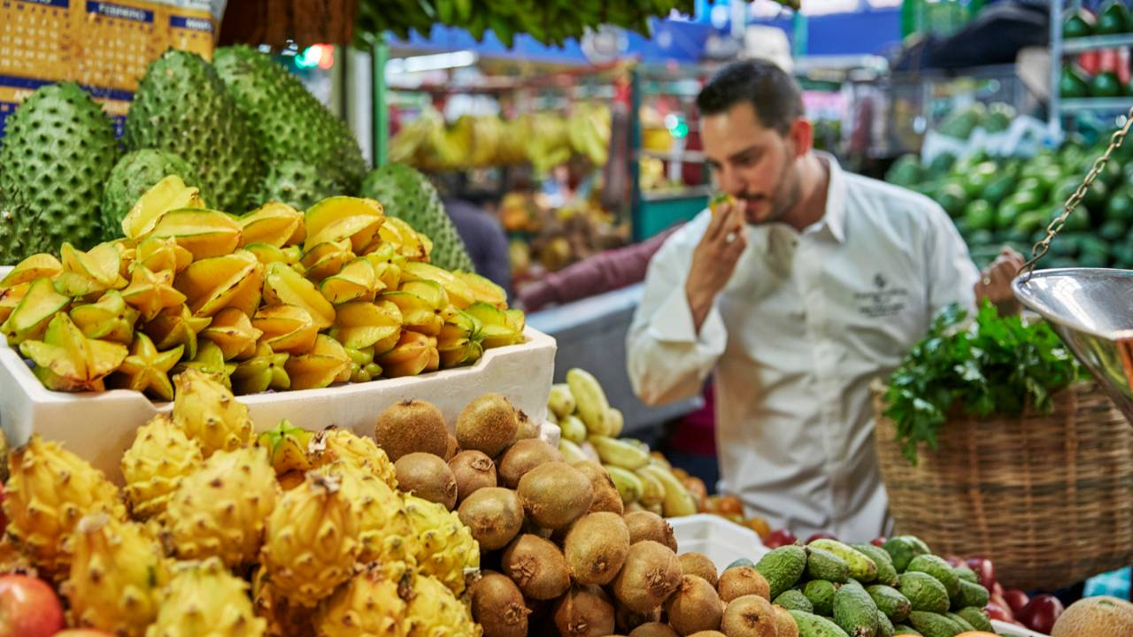 food market bogota - foodie travel