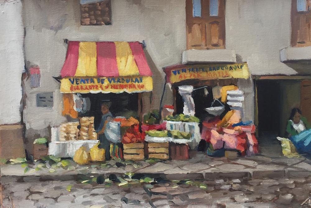 Alice Boggis=Rolfe Artist - Cuzco Market