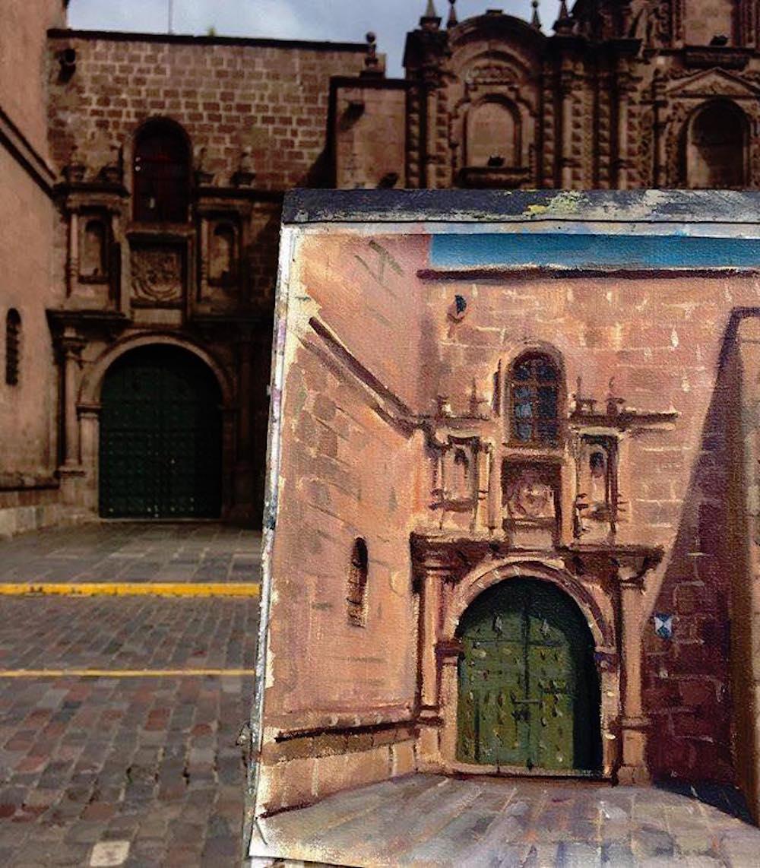 Alice Boggis-Rolfe Art - Cuzco Colonial Door