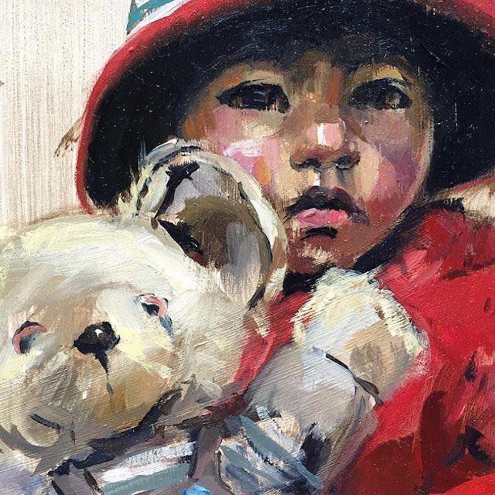 Alice Boggis-Rolfe Art - Peruvian Girl and Teddy Bear