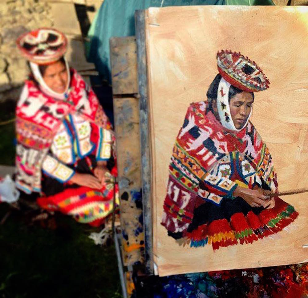 Alice Boggs-Rolfe Art - Painting Andean Women in Peru