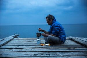 FIREPOT Outdoor Food - Camp Fire - Lake Baikal