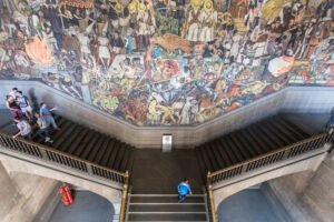 National Palace Stairs - Diego Rivera