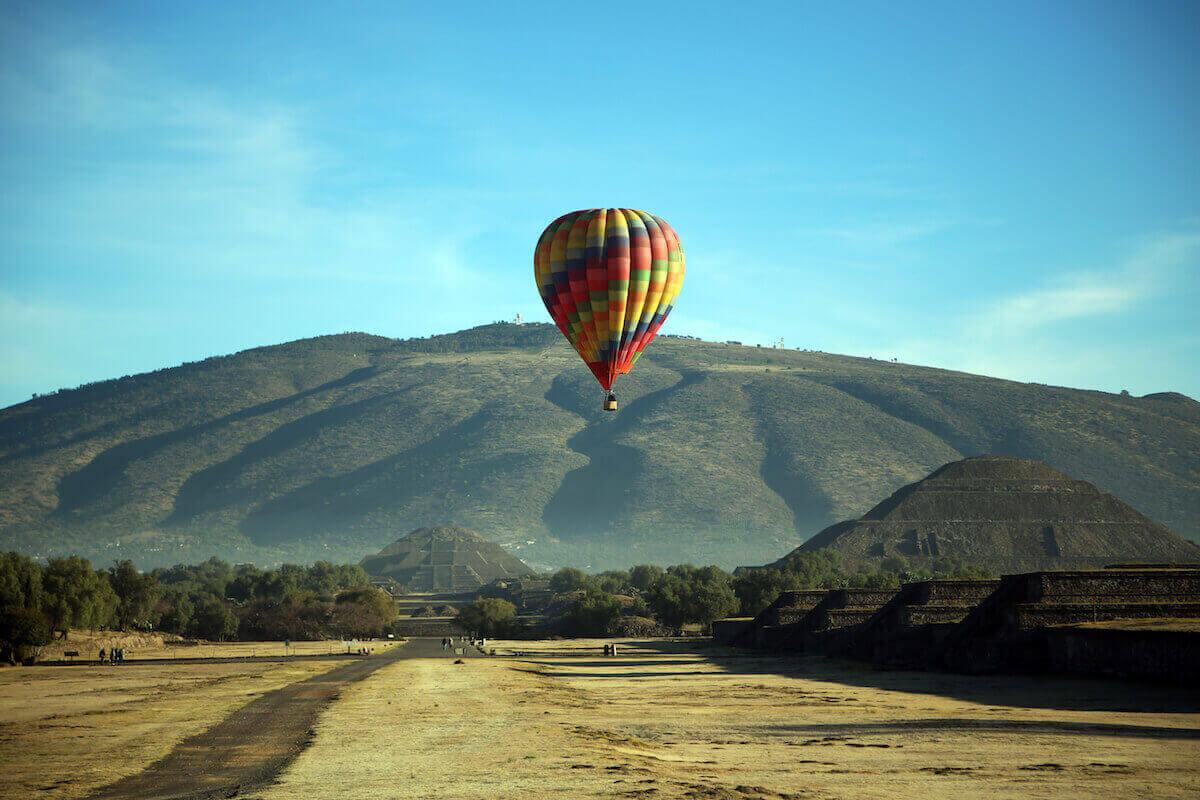 Hot Air Balloon, Teotihuacan, Mexico