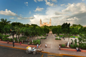 Merida Plaza Grande, Yucatan Peninsula, Mexico