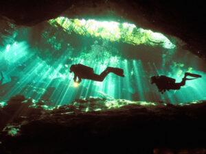 Scuba Diving, Cenote, Yucatan, Mexico