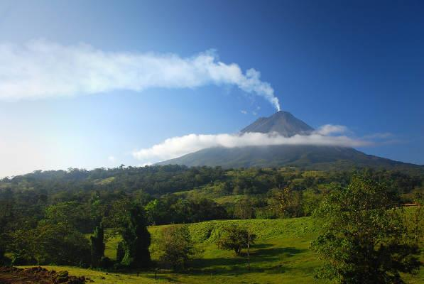 View from Bijagua de Upala to Arenal Volcano, Costa Rica