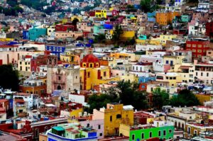 Mexico City - colourful houses