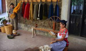 Weaving in Teotitlan, Oaxaca, Mexico