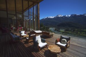 Uman Lodge, Chile - Terrace View