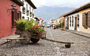 Antigua, Guatemala - Flower Cart