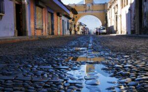 Antigua Guatemala - cobble stone street