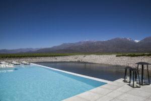 Casa de Uco, Mendoza, Argentina - Pool View of Andes