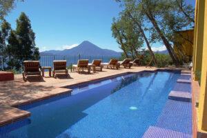 Casa Palopo, Lake Atitlan, Guatemala - Swimming Pool View