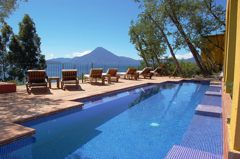 Casa Palopo, Lake Atitlan, Guatemala - Swimming Pool Volcano View