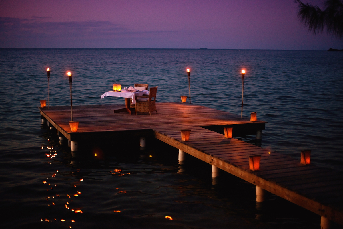 Cayo Espanto, Belize - Sunset Dinner
