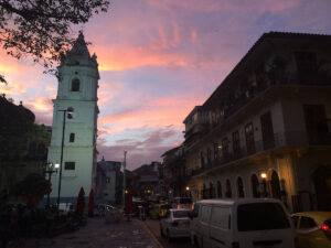 Panama City Old Town sunset