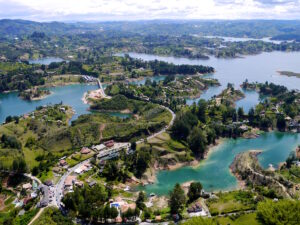 View from Rock of Guatape, Medellin, Colombia