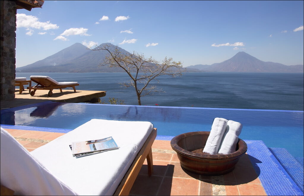 Casa Palopo Villa Pool, Lake Atitlan, Guatemala - Lounger View