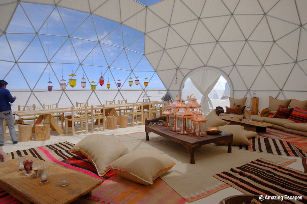 Bolivia Travesia Amazing Escapes Dining Yurt Salt Flats