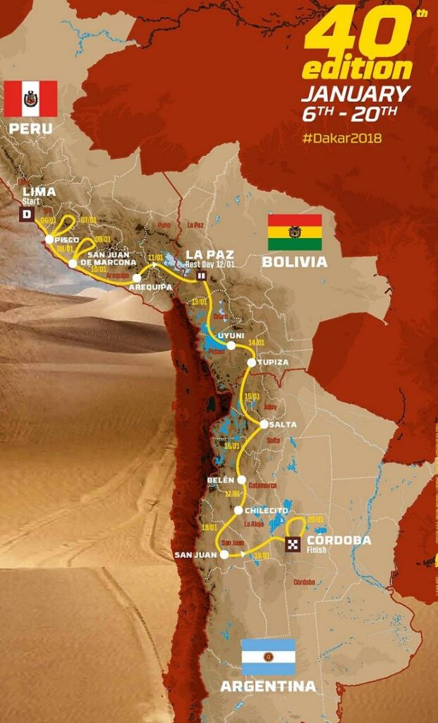 Dakar Rally Route 2018