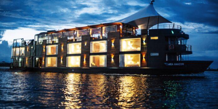 Aria Amazon Cruise, Peru - Exterior at Night