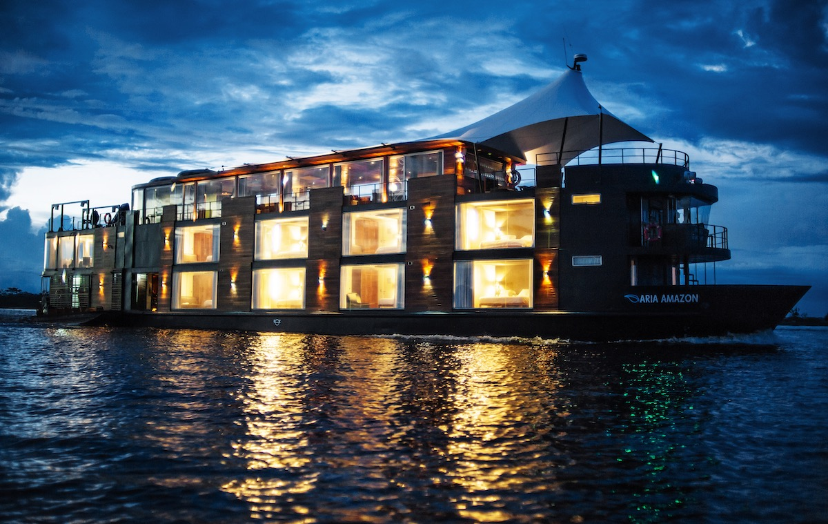 Aria Amazon Cruise, Peru - Exterior at Night