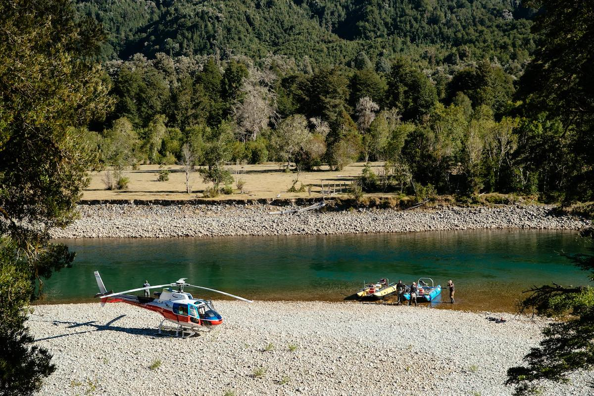 Barraco Lodge, Patagonia, Chile - Heli-Fishing