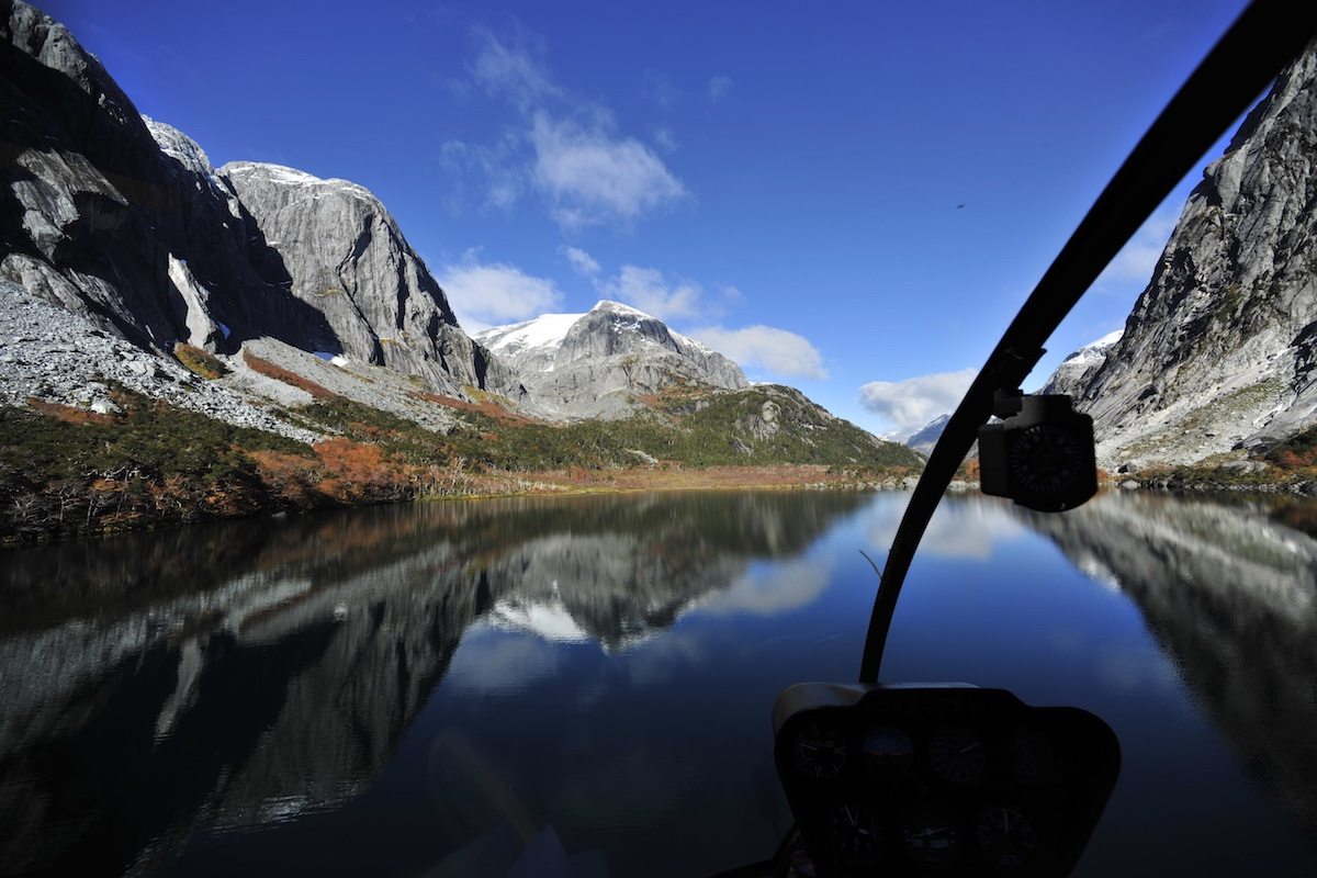 Barraco Lodge, Patagonia, Chile - Helicopter Ride