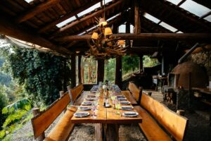 Barraco Lodge, Patagonia, Chile - Quincho Dining Room