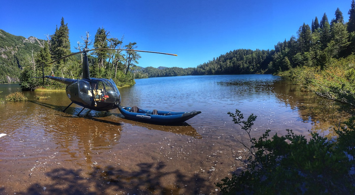 Barraco Lodge, Patagonia, Chile - River Heli Fishing