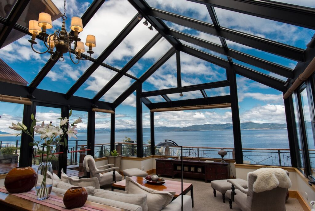 Los Cauquenes, Ushuaia, Argentina - Conservatory view of Beagle Channel
