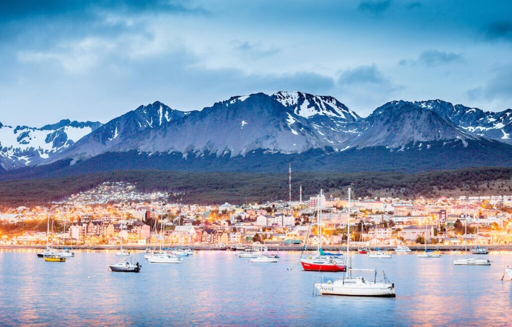 Ushuaia, Argentina - Port lights Cr: Los Cauquenes