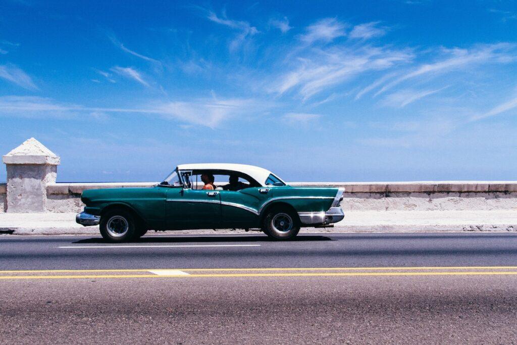 Havana, Cuba - Malecon, Vintage Car