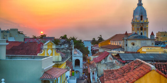 Cartagena Rooftops at Sunset