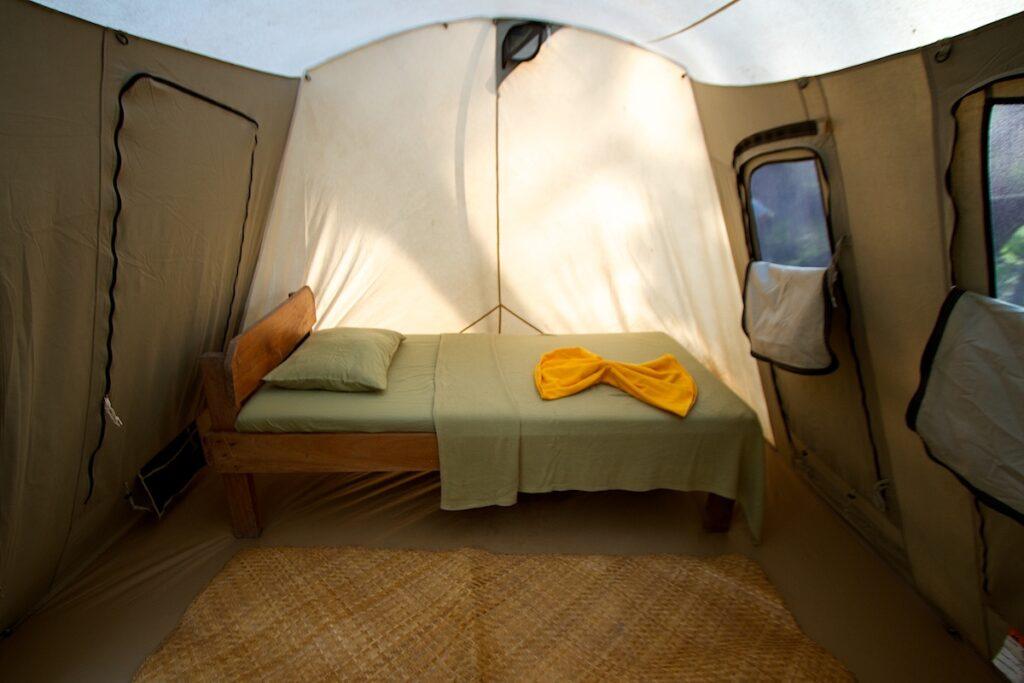 Uaxactun Guatemala Camping - Tent Interior