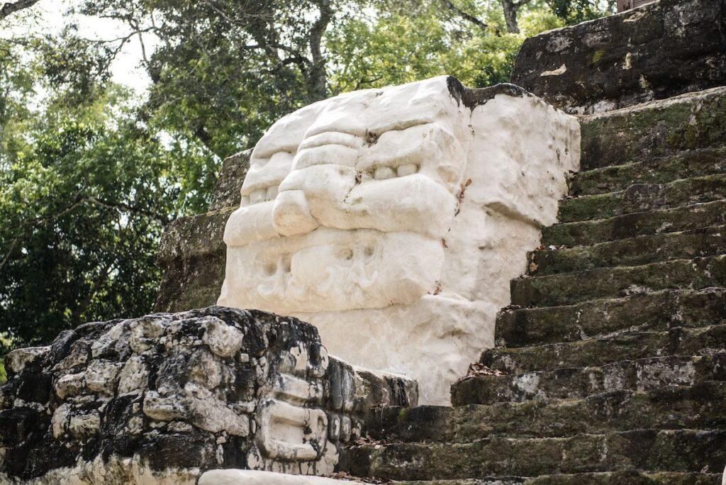 Uaxactun Mayan Ruins, Guatemala - stone carving