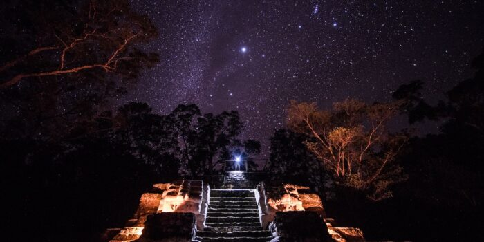 Uaxactun Mayan Ruins, Guatemala - Starry Night