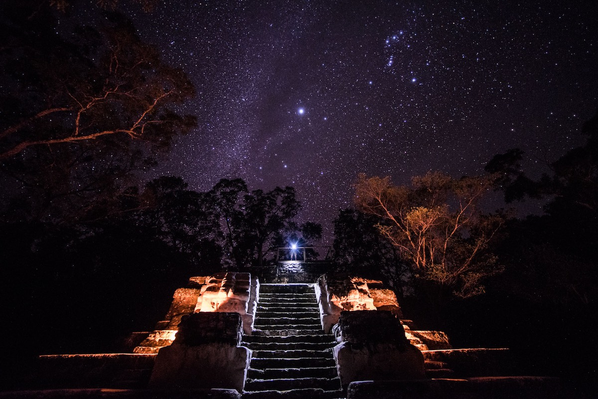 Sleep Under Stars Amongst the Mayan Ruins of Uaxactún
