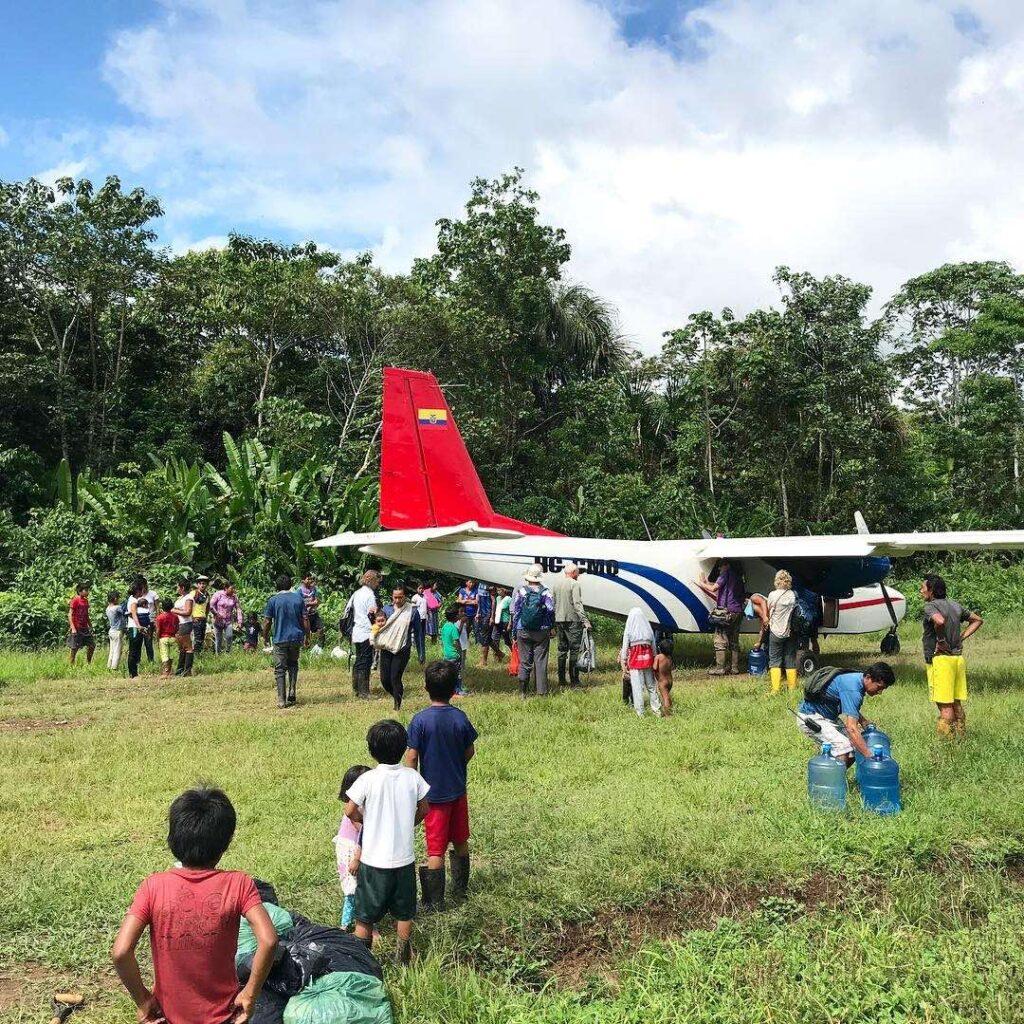 Naku, Ecuadorian Amazon - Cessna Arrival