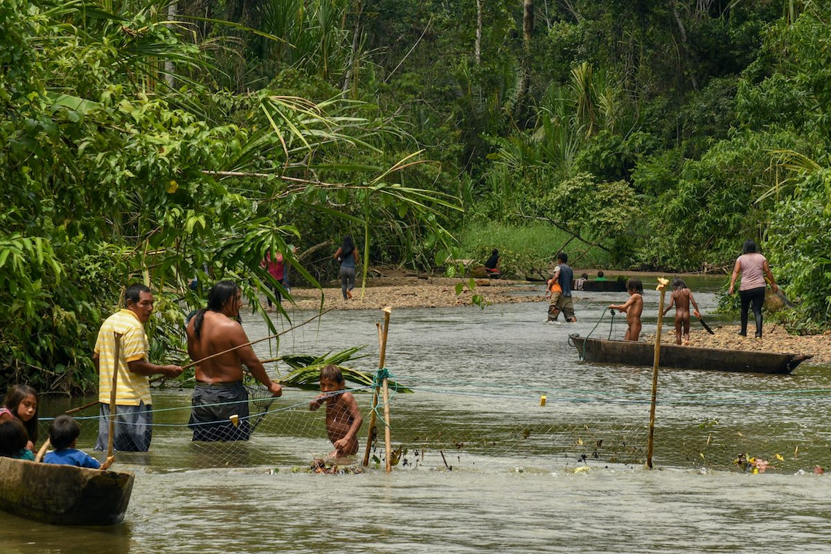 Naku, Ecuadorian Amazon - Sapara Fishing