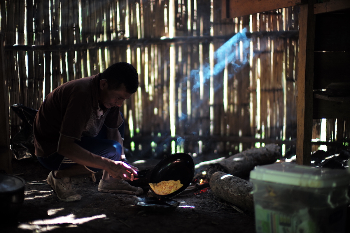 Naku, Ecuadorian Amazon - cooking