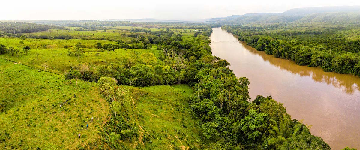 Wayabero, Colombia - River pano