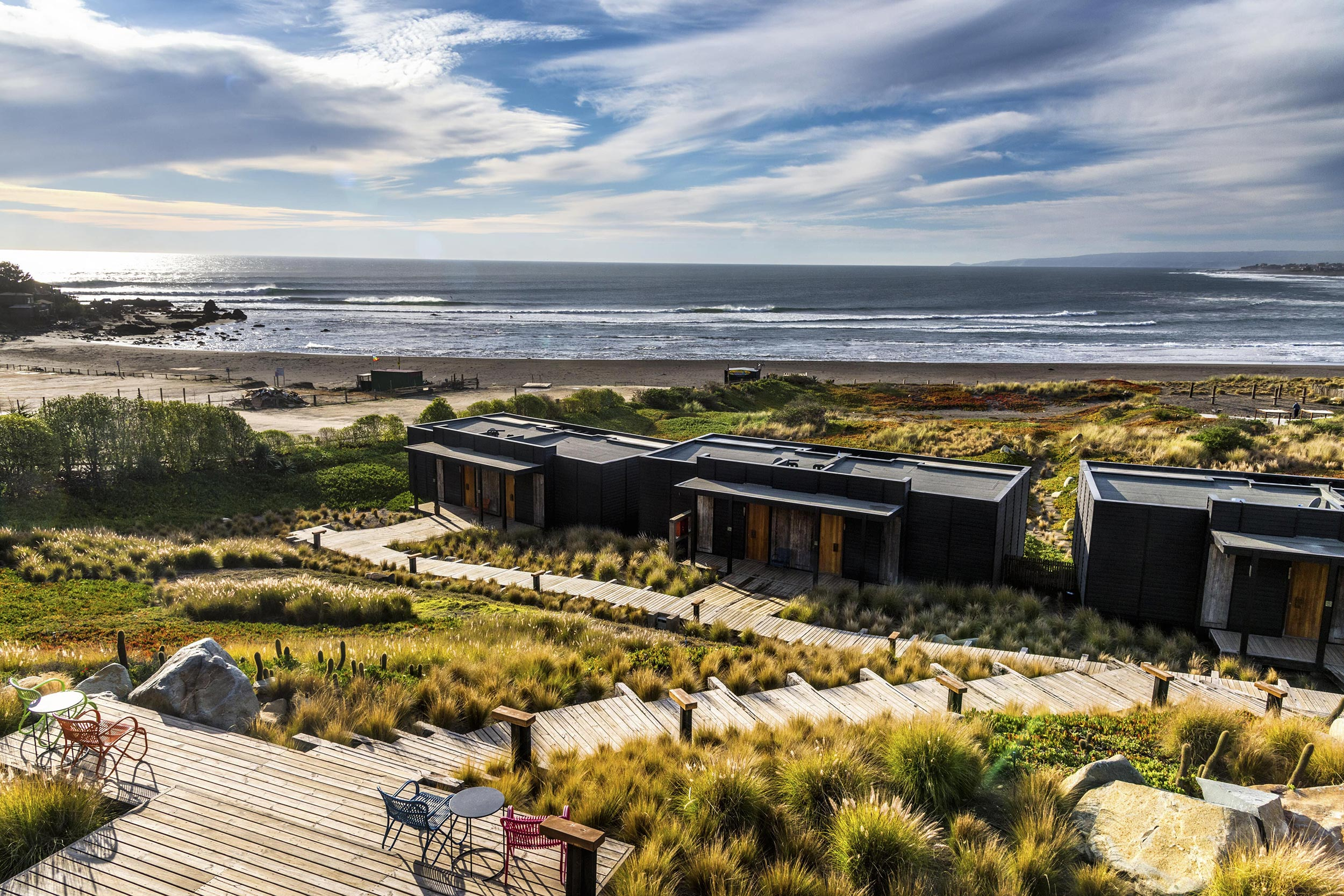 Hotel Alaia blends into the natural surroundings of Punta de Lobos.