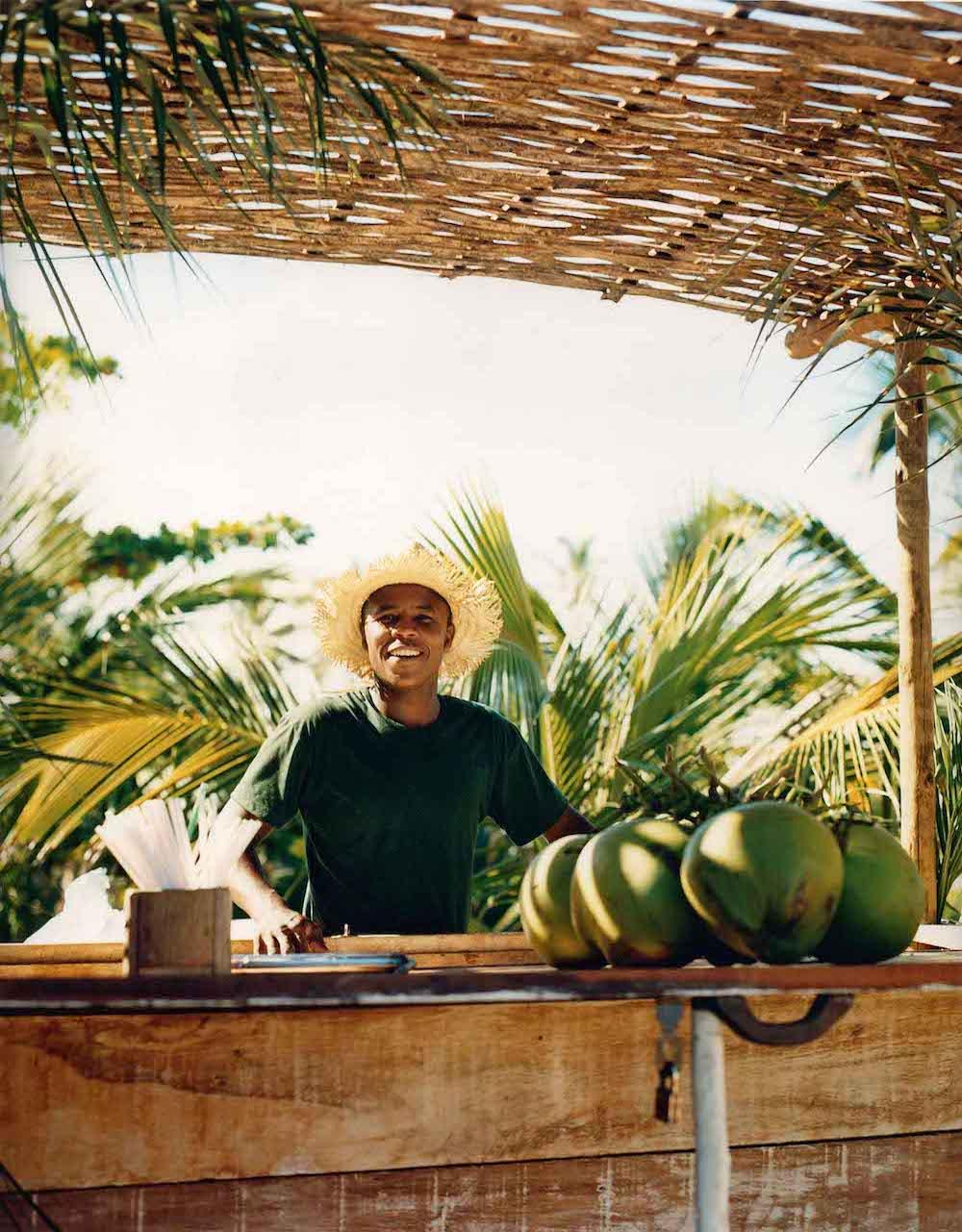 Trancoso beach coconuts