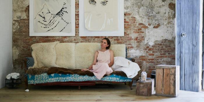 Eva Claessens artist at home Uruguay