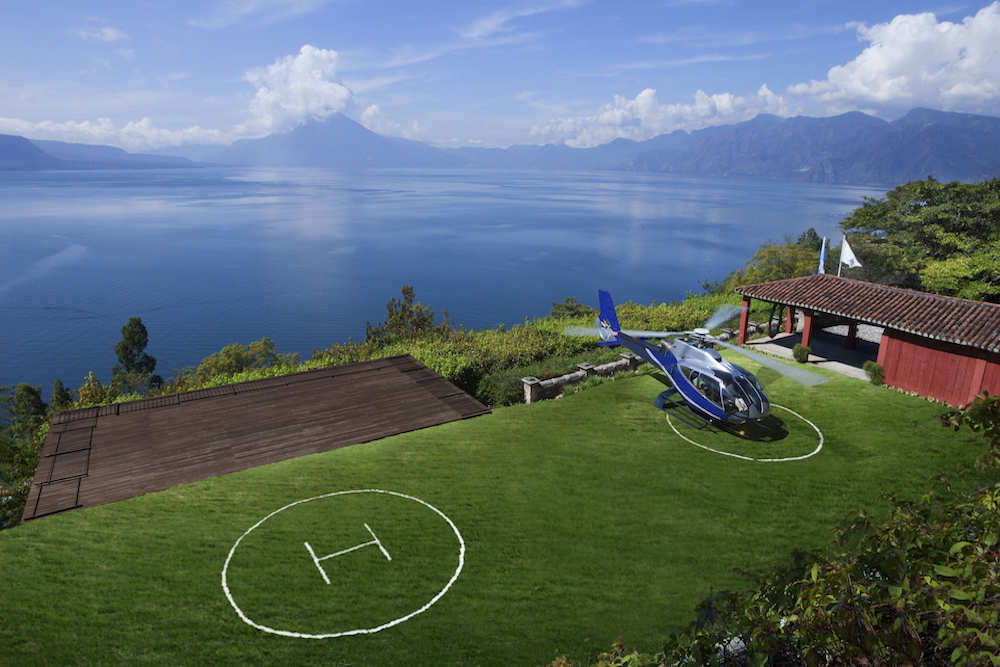 Casa Palopo, helicopter pad, Guatemala | Plan South America
